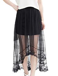 Damen Röcke - Sexy / Retro Asymmetrisch Polyester Unelastisch