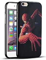 Caso del iphone del hombre araña de protección suave de la contraportada para el iphone 6s / iPhone 6