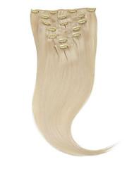 "neitsi® 20 ""7pcs establecen 100% de clip remy real en extensiones de cabello humano virginal recta pelo ombre 60 #"