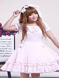 Une Pièce/Robes Gothique / Doux / Lolita Classique/Traditionnelle Steampunk® Cosplay Vêtements de Lolita Incanardin Couleur PleineManches