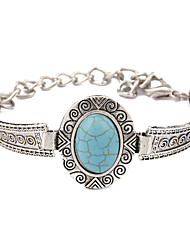 New Fashion Bohemia Turquoise Oval Retro Bracelet