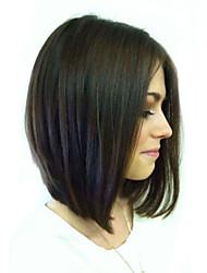 Bob Style Short Straight Human Hair Capless Wigs Virgin Remy Mono Top Hair Wig