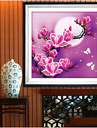 New 5D Magnolia flowers Home Decoration DIY Painting Embroidery Kit Round Diamond Painting Cross Stitch Stickers diamond