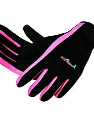 Diving Gloves Full-finger Gloves Diving Keep Warm Wearable Neoprene Unisex Black Blue M