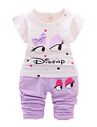 Girl's Clothing Set,Cotton Summer Pink / Purple / Red / Yellow