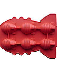 Atomic Bomb Shape Ice Mould Silicone Ice Cubes (Random Color),13X18X2cm