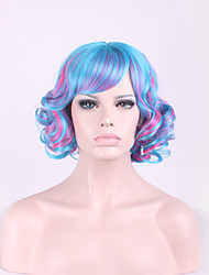 Harajuku Lolita Mixed Color Hair Cosplay Blue Gradient Pink Wig