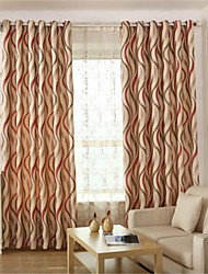 Two Panels European Living Room Polyester Blackout Curtains Drapes