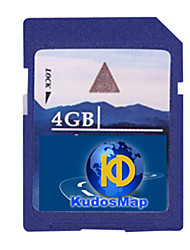 kudos gps map carta, con scheda SD standard di 4gb