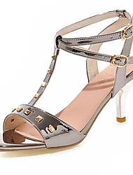 Women's Shoes Stiletto Heel Open Toe Sandals Dress Pink / Red / Silver / Gray / Gold