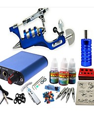 Basekey Tattoo Kit JH554  1 Rotary Gun Machine With Power Supply Grips 3x10ML Ink