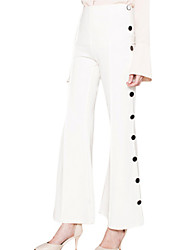 Women's Retro Style Buttons Delicate Flare Pants