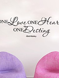 Bob Marley One Love One Heart Quote Art Wall Stickers For Living Room Bedroom Decoration  Wallpapers Home Decor Mural