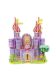 Jigsaw Puzzles 3D Puzzles Building Blocks DIY Toys Castle Paper Yellow / Purple Model & Building Toy