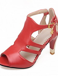 Women's Shoes Leather Spring / Summer  / Slingback / Gladiator / Basic Pump / Comfort / Novelty / Styles / Open Toe Sa