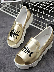 Women's Shoes Leatherette Platform Creepers Sandals / Slippers Outdoor / Casual Silver / Gold