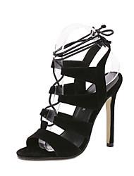 Zapatos de mujer-Tacón Stiletto-Tacones / Punta Abierta / Tira en el Tobillo-Sandalias-Boda / Oficina y Trabajo / Vestido / Fiesta y Noche