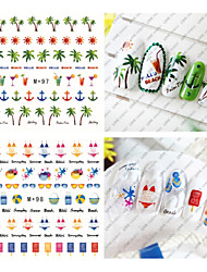 1pcs Fresh Nail Watermark Sticker96-101