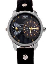 Мужской Механические часы Наручные часы Кварцевый Кожа Группа Черный