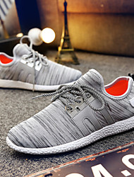 Zapatos de Hombre-Sneakers a la Moda-Casual-Tela-Negro / Gris