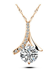 Party Gold Plated / Silver Plated / Alloy / Cubic Zirconia Pendant Necklace