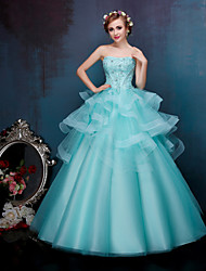 Princess Wedding Dress-Pool Floor-length Sweetheart Lace / Tulle / Stretch Satin / Sequined