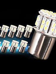 10 X NEW White 1156 RV Camper Trailer 50 SMD LED 1141 1003 Interior Light Bulbs