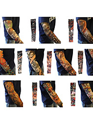 Tattoo Sleeves Desigh Sport Bike Cycling Arm Sleeves Cover Skin Sun Protection Elastic Armband(12PCS)