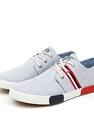 Zapatos de Hombre-Sneakers a la Moda-Casual-Tela-Azul / Gris