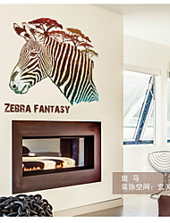 SK7004 Free Shipping Zebra Wall Stickers Home Decor Art Decals for Living Room Bedroom Hallway Decoration Removable