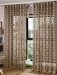 Jacquard Feather Sheer Curtain (Two Panel)