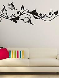 Romantik / Mode / Blumen Wand-Sticker Flugzeug-Wand Sticker,PVC M:42*130cm / L:55*180cm