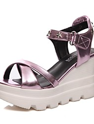 Women's Shoes Patent Leather Wedge Heel Wedges / Platform / Slingback / Gladiator / Comfort / Novelty / Ankle Strap /