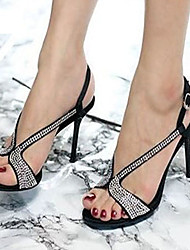 Women's Shoes Glitter Stiletto Heel Heels Sandals Wedding / Office & Career / Party & Evening / Dress Silver / Gold