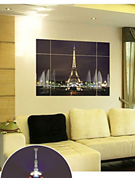 8014W  the Eiffel Tower Creative Decorative Stickers Can be Removed from the Factory to Remove the Wholesale Pain