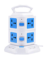 Vertical Multi-outlet Socket with USB Multifunction Creative Cube Inserted Row Four Holes Intelligent Power
