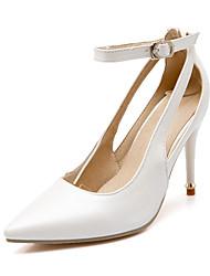 Wedding Shoes-Saltos-Saltos / Bico Fino-Preto / Rosa / Branco-Feminino / Para Meninas-Casamento / Escritório & Trabalho / Festas & Noite