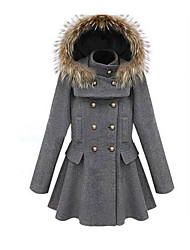 Women's Solid Coat,Simple Long Sleeve Wool