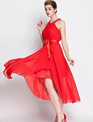 Women's Street chic Solid Sheath / Swing Dress,Halter Midi Polyester