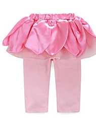 Girl's Pink Pants Cotton Spring