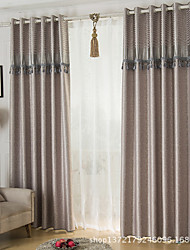 Two Panels Modern Paisley Living Room Polyester Blackout Curtains Drapes