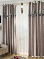 Deux Panneaux Moderne Cachemire Comme image Salle de séjour Polyester Rideaux occultants rideaux