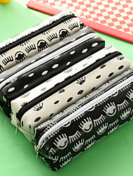 Black And White Individuality Creative Little Fresh Jelly Glue Pen Bag Large Capacity To Receive Package