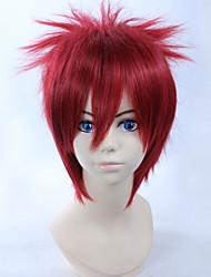 Perruques de Cosplay Naruto Gaara Rouge Court Anime Perruques de Cosplay 28 CM Fibre résistante à la chaleur Masculin