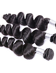 3bundles 150g 8-26inch Brazilian Virgin Hair Loose Wave Natural Black Color Raw Human Hair Weaves Wholesales.
