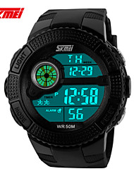 orologio sportivo Da uomo / Unisex LCD / Compass / Termometri / Calendario / Resistente all'acqua / Due fusi orari / Orologio sportivo