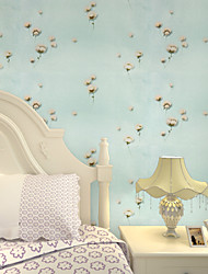 Contemporary Wallpaper Art Deco 3D Garden Flowers Wallpaper Wall Covering PVC/Vinyl Fabric Wall Art
