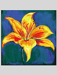 Oil Paintings Flower Style  Canvas Material with Stretched Frame Ready To Hang Size  70*70CM.