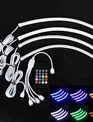 Car Indoor Sound Activated Flexible multicolor Light Car Decoration Lamp with Controller (12V)