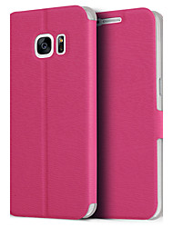 High Quality Magnetic Flip PU Leather Cases with Stand for Samsung Galaxy S7